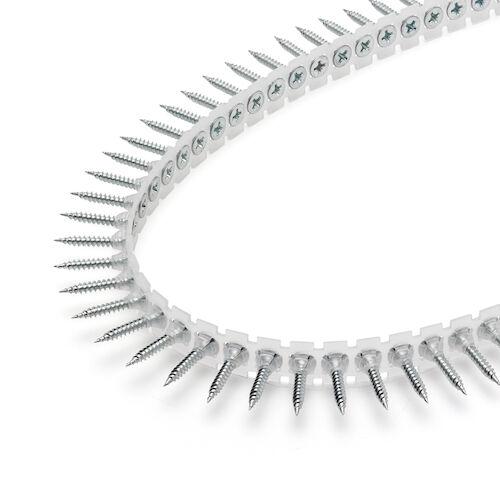 Rakbandad gipsskruv för stålregel max 1 mm