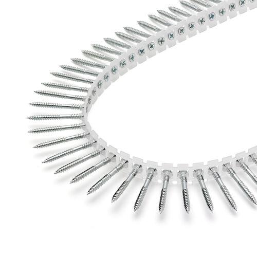 Rakbandad hårdgipsskruv för  stålregel max 1 mm